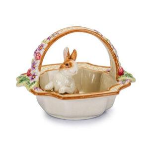 Статуэтка Корзинка с кроликом - Фото