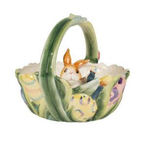 Статуэтка «Корзинка с кроликом» - Фото