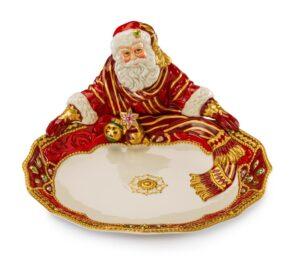 Блюдо круглое «Санта» 30 x 16 см, керамика - Фото