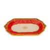 Блюдо овальное красное с золотом 48 х 29 см, керамика