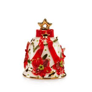 Колокольчик новогодний, керамика, 10 см - Фото