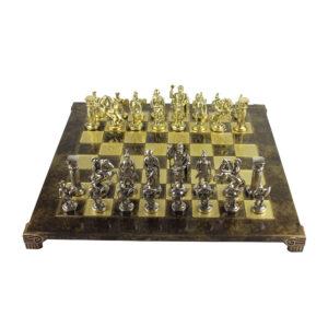 Шахматы «Греко-Римская война», коричневая эмаль - Фото