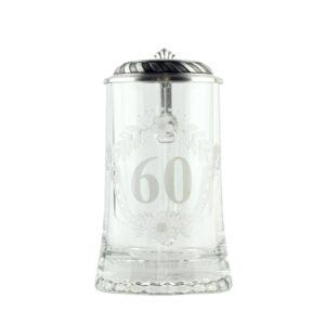 Бокал для пива юбилейный «60» - Фото