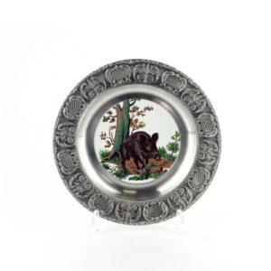 Тарелка декоративная «Кабан» - Фото