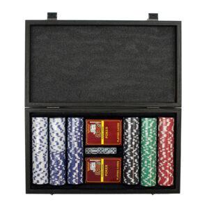 Покерный набор, орех, 300 профи-фишек, 2 колоды карт - Фото