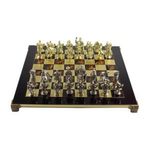 Шахматы «Греко-Римская война», красная эмаль - Фото