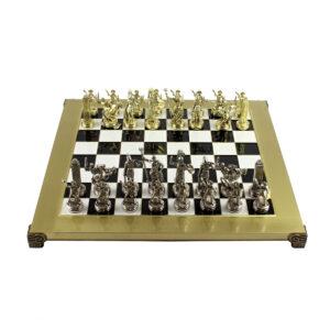Шахматы «Греко-Римская война», черная эмаль - Фото