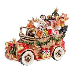 Статуэтка  Новогодняя «Дед Мороз в машине», 21 х 17 см - Фото