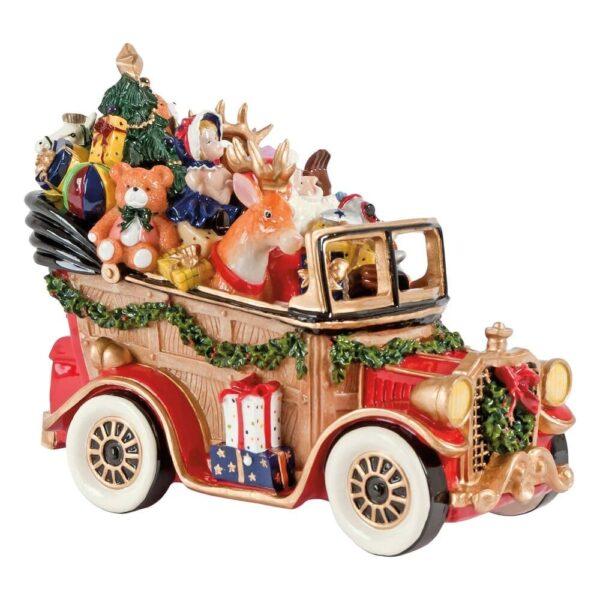 """Статуэтка Новогодняя """"Дед Мороз в машине"""", 21 х 17 см"""