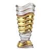 Ваза хрустальная, золото 41,5 см