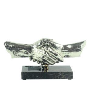 Фигура «Рукопожатие», серебро - Фото