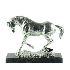 Фигура «Лошадь скачет трусцой», серебро - Фото