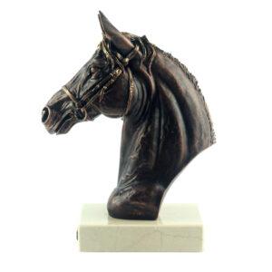 Бюст «Лошадь», бронза - Фото