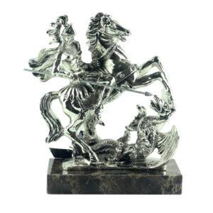 Фигура «Святой Георгий», серебро - Фото