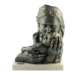 Статуэтка «Мамины объятия», бронза - Фото