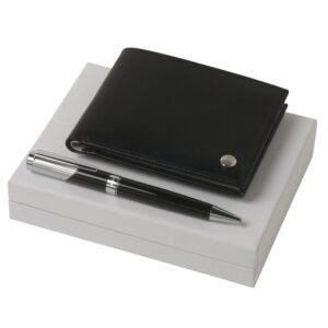 Набор в подарочной упаковке: кошелек Bicolore + шариковая ручка Lueur - Фото