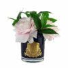 Парфюмированные цветы «Английская роза в черной вазе» с ароматическим спреем Savon