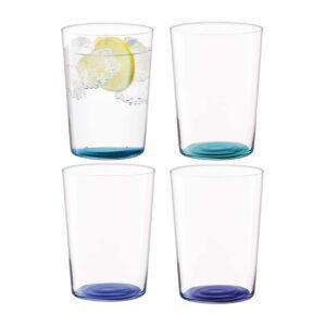 Набор стаканов для воды «Coro», 4шт, цветные - Фото