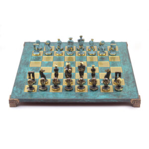 Шахматы «Остров Пасхи» 44 х 44 см, фигуры бронза - Фото