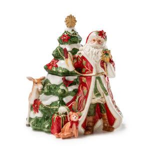Шкатулка «Дед мороз с елкой» 27 x 30 см - Фото