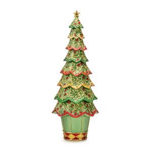 Статуэтка «Новогодняя елка» зеленый ажур, 33 см - Фото