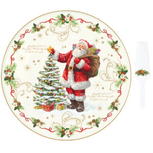 Блюдо для торта с лопаткой «Волшебное рождество», 32 см - Фото