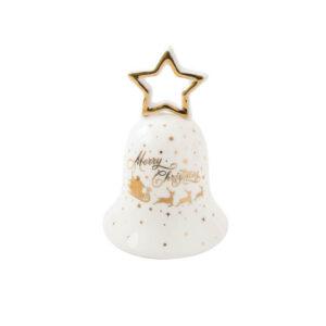 Колокольчик со звездой «Рождественский восторг», 9 х 13,5 см - Фото