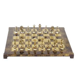 Шахматы «Classic», коричневая эмаль - Фото