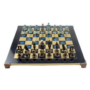 Шахматы «Остров Пасхи», синяя доска - Фото