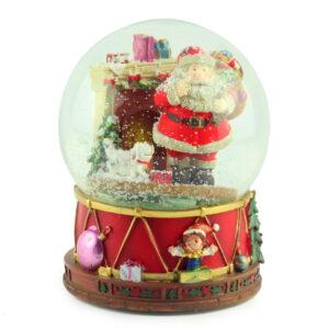 Музыкальная шар-шкатулка «Санта», 20 х 15 см - Фото