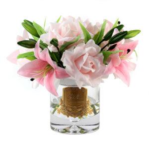Парфюмированные цветы Cote Noire «Розовые розы и лилии», арома спрей - Фото