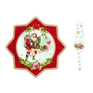 Набор для подачи торта «Винтажное Рождество», 32 см - Фото