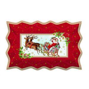 Блюдо сервировочное «Винтажное Рождество», 35 х 23 см - Фото