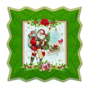 Блюдо сервировочное «Винтажное Рождество» 30 х 30 см - Фото