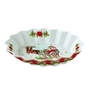 Блюдо овальное «Винтажное Рождество», 25 х 17 см - Фото