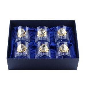 Сет хрустальных стаканов Boss Crystal «БОКАЛЫ ЛИДЕР «, 6 бокалов, серебро - Фото