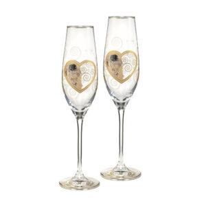 Бокалы для шампанского «Поцелуй» Густав Климт, 100мл, 2шт - Фото