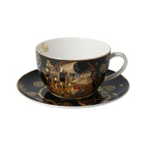 Чашка с блюдцем для чая «Поцелуй» Густав Климт, 500 мл - Фото