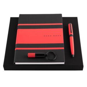 Набор Gear Matrix Red (шариковая ручка, блокнот A5 и брелок) Hugo Boss - Фото