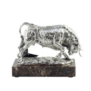 Фигура «Бык Estrion», серебро 21 см - Фото