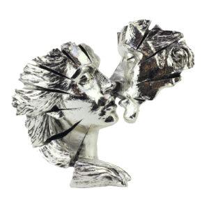 Фигура «Влюбленные»/ серебро - Фото