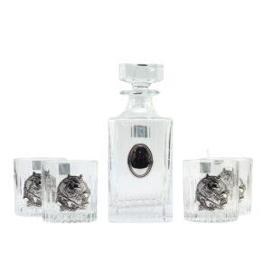 Набор для виски «BULL», серебро - Фото
