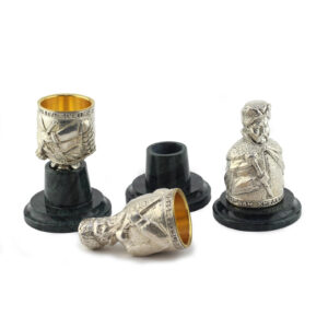 Набор из 3 рюмок «Гетманы», бронза - Фото