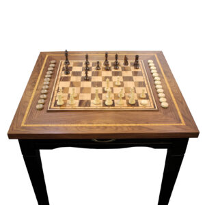 Шахматный стол с нардами и фигурами - Фото