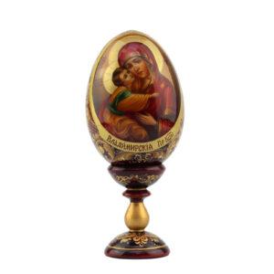 Сувенирное яйцо малое «Пресвятая Богородица Владимирская» - Фото