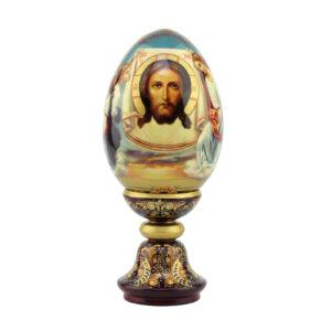 Сувенирное яйцо большое «Спас с ангелами» - Фото