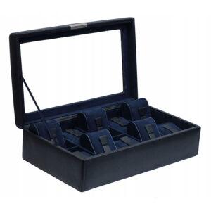 Шкатулка для хранения 10 часов «BOND» черно-синяя - Фото