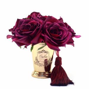 Парфюмированные цветы Cote Noire «Семь бордовых роз-Сarmine Red», арома спрей Savon - Фото
