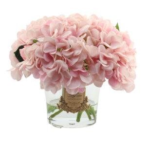 Парфюмированные цветы Cote Noire «Большой букет розовых гортензий и бутонов роз-Pink Blash» с арома спреем Savon - Фото