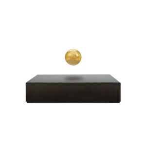 Левитирующий Будда шар, черная база и золотой шар - Фото